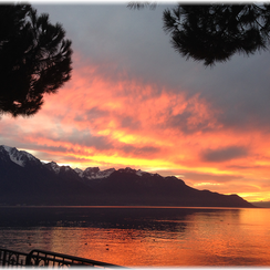 Sunset in Montreux - Philip's Excursions